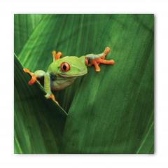 Yeşil Bitki ve Kurbağa Bandana Fular