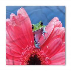 Çiçek ve Kurbağa Temalı Bandana Fular