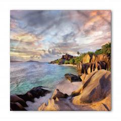 Tropikal Kayalık Kumsal Bandana Fular