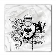 Antik Şövalye Desenli Bandana Fular