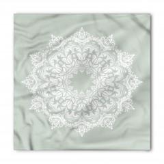 Beyaz Şal Desenli Bandana Fular