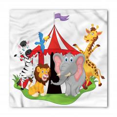 Sirk Hayvanları Desenli Bandana Fular