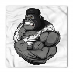 Goril Desenli Bandana Fular