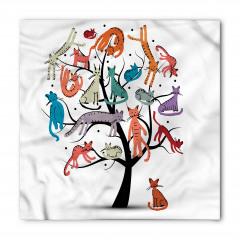 Ağaçta Renkli Kediler Bandana Fular