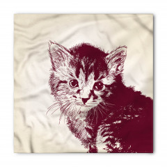 Sevimli Tüylü Kedi Bandana Fular