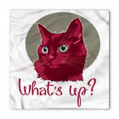 Sevimli Kedi Portresi Bandana Fular