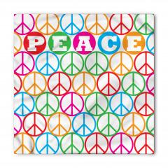 Barış Sembolü Desenli Bandana Fular