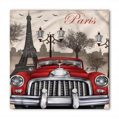 Paris ve Kırmızı Araba Bandana Fular