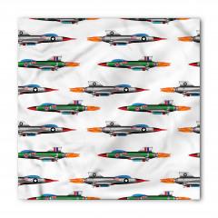 Renkli Savaş Uçakları Bandana Fular
