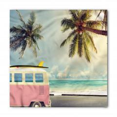 Minibüs ve Sörf Desenli Bandana Fular