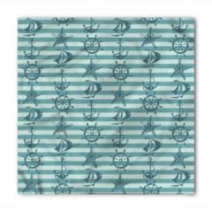 Mavi Denizcilik Desenli Bandana Fular