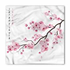 Pembe Kiraz Çiçekleri Bandana Fular