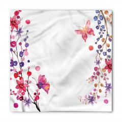 Çiçek ve Kelebek Bandana Fular