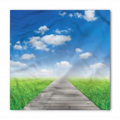 Ahşap Yol ve Gökyüzü Bandana Fular