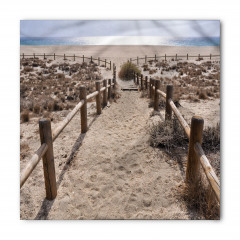 Bej Kumsal ve Deniz Bandana Fular