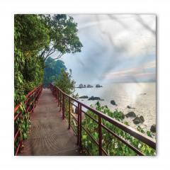 Ağaçlı Yoldaki Köprü Bandana Fular