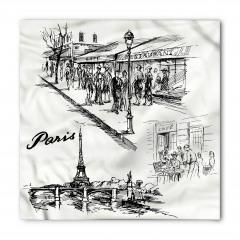 Paris Caddeleri Bandana Fular