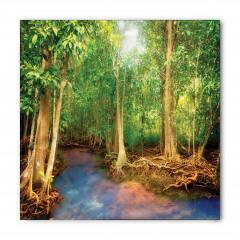 Yeşil Orman Temalı Bandana Fular