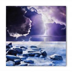 Bulut ve Yağmur Temalı Bandana Fular