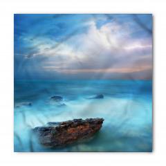 Turkuaz Deniz Manzaralı Bandana Fular