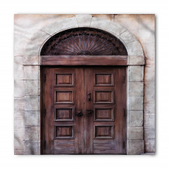 Kahverengi Ahşap Kapı Bandana Fular