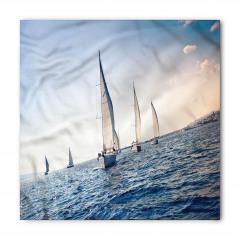 Yelkenli Deniz Temalı Bandana Fular