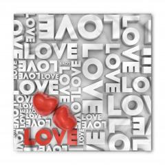 Romantik Kırmızı Kalp Bandana Fular