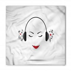 Müzik Dinleyen Kız Bandana Fular
