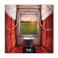 Tren Penceresi Temalı Bandana Fular