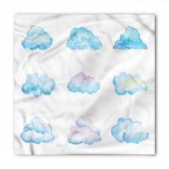 Bulut Desenli Bandana Fular