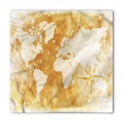 Dünya Haritası Pusula Bandana Fular
