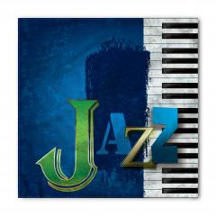 Mavi Caz ve Piyano Bandana Fular