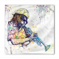 Renkli Caz ve Müzisyen Bandana Fular
