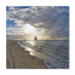 Denizde Bir Yelkenli Bandana Fular