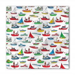 Renkli Gemi Desenleri Bandana Fular