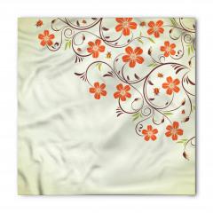 Şık Çiçek Desenli Bandana Fular