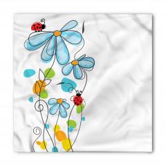 Çiçek ve Uğur Böceği Bandana Fular