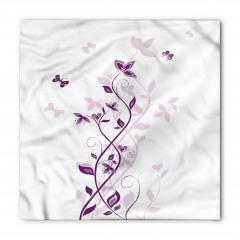 Şık Çiçek ve Kelebek Bandana Fular