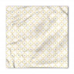 Sarı Yonca Desenli Bandana Fular