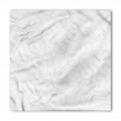 Beyaz Geometrik Desenli Bandana Fular