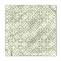 Yeşil ve Gri Geometrik Bandana Fular