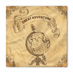 Dünya Haritası Temalı Bandana Fular