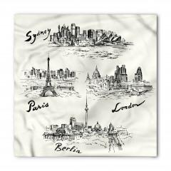 Avrupa Şehirleri Temalı Bandana Fular