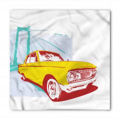 Nostaljik Araba Temalı Bandana Fular