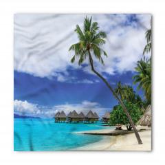 Tropikal Cennet Temalı Bandana Fular