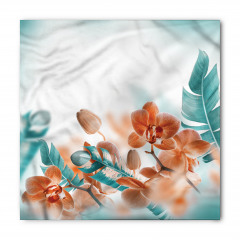 Orkide Desenli Bandana Fular