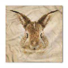 Tavşan Portreli Bandana Fular