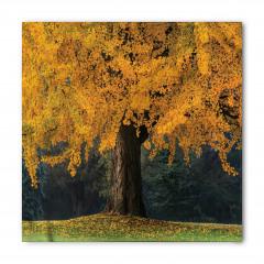 Sararmış Yapraklı Ağaç Bandana Fular