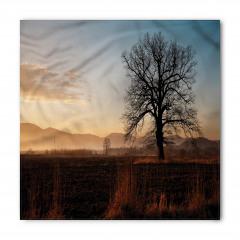 Gün Batımı ve Ağaç Bandana Fular