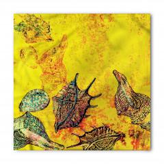 Deniz Kabuğu Desenli Bandana Fular